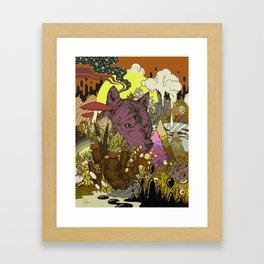 Zen Wolf Framed Art Print