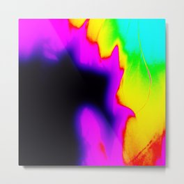 Rainbow Fire Metal Print