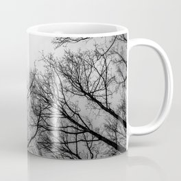 Scary black and white trees Coffee Mug