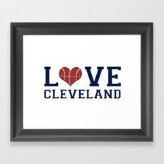Love Cavs Framed Art Print