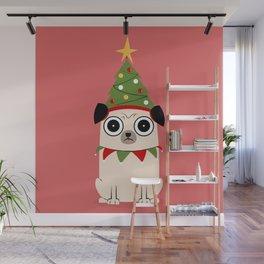 It's Christmas for Pug's Sake Wall Mural