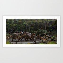 Triceratops Being Horridus Art Print