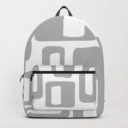 Retro Mid Century Modern Abstract Pattern 336 Gray Backpack