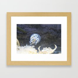 Bubbly JellyFish  Framed Art Print