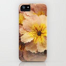Golden Pansies iPhone Case