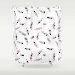 Feather fall Shower Curtain