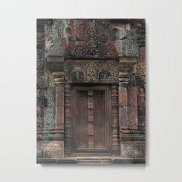 Angkor door Metal Print