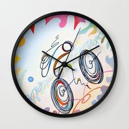 "Bicycle ""1km"" Wall Clock"