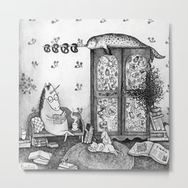 Unicorn house Metal Print