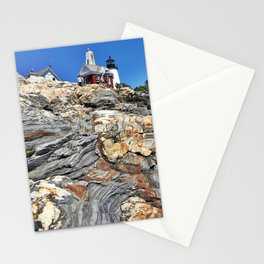 Pemaquid Point Lighthouse in Bristol, Maine (1) Stationery Cards