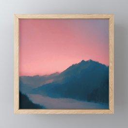 Chase Wolves Framed Mini Art Print