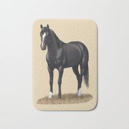 Beautiful Black Stallion Quarter Horse Bath Mat
