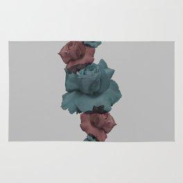 Glitch Roses Gray Rug