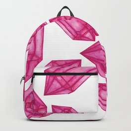 Pink Crystal Pattern Backpack