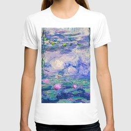 Blue Water Lilies  T-shirt
