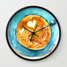 A Latte Hearts Wall Clock