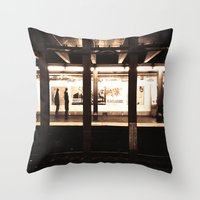 jewish Throw Pillows featuring Rush Hour by Brown Eyed Lady