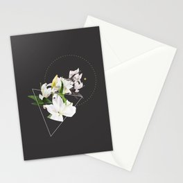 Tropical Flowers & Geometry II Stationery Cards