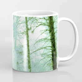 Magical forest in frosty greens Coffee Mug