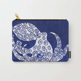 Lone Octopus - Indigo Carry-All Pouch