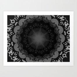 Dark Mandala #1 Art Print