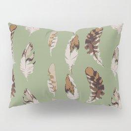 Hawk Feathers on Green Pillow Sham