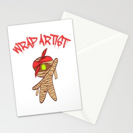 """Wrap Artist"" T-shirt Design Spooky Creepy Happy Halloween Scary Ghost October November Stationery Cards"