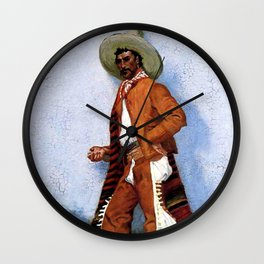 "Frederic Remington Western Art ""A Vaquero"" Wall Clock"