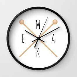 MAKE  |  Knitting Needles Wall Clock