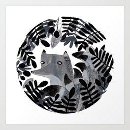 El zorro de las nueve colitas Art Print