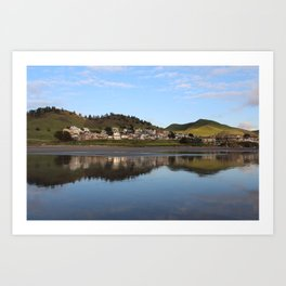 Ocean Water Reflection in Cayucos, California Art Print
