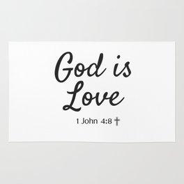 God is Love - Religious Art Rug