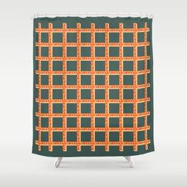 Orange Net Shower Curtain