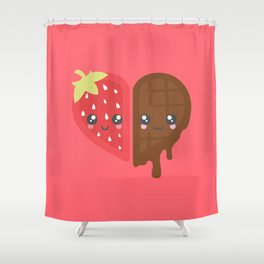 Strawberry & Chocolate Shower Curtain