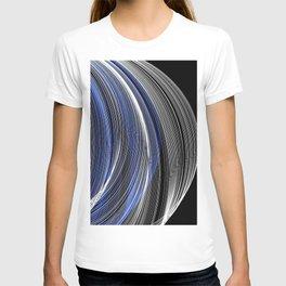 Sapphire Blue & White Swirls T-shirt