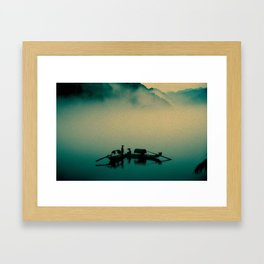 Junk ship Chinese Boat Framed Art Print