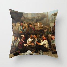 The Longshoremen's Noon Throw Pillow