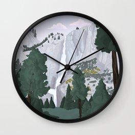 Yosemite National Park, Yosemite Falls, Waterfall, California Parks Wall Clock