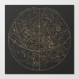 Visible Heavens - Dark Canvas Print