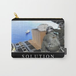 Solution: Inspirational Quote and Motivational Poster Carry-All Pouch