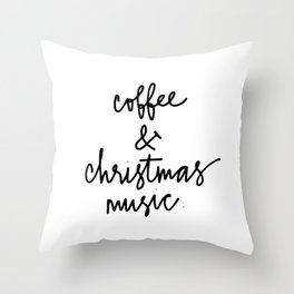 Coffee & christmas Throw Pillow
