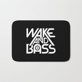 Wake And Bass (White) Bath Mat