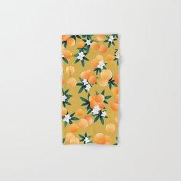 Orange Twist Flower Vibes #5 #tropical #fruit #decor #art #society6 Hand & Bath Towel