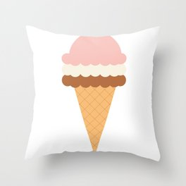 Napolitano Ice-creams Throw Pillow