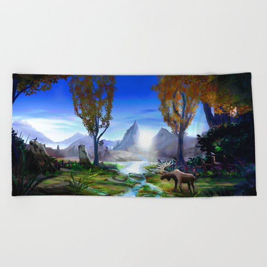 Light from the Mountains Beach Towel