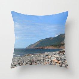 Watercolor Landscape, Cape Breton 17, Nova Scotia, Canada Throw Pillow