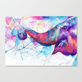 Elephant Noise Canvas Print