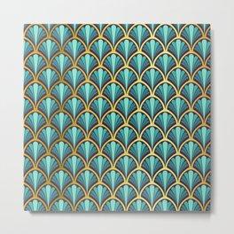 Vintage seashell tapestry - Prince Charming Metal Print
