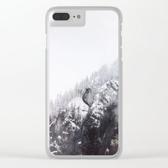 winter fog Clear iPhone Case