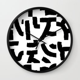 Fragments of Rhizome Paths no. 2 Wall Clock